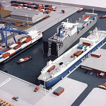 Container Crane for Ro-Ro Ferry Terminal 1:500 Scale
